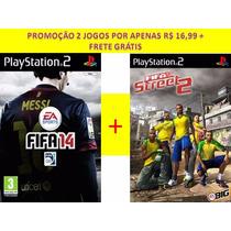 Fifa 14 + Fifa Street 2 Play Station 2 (kit 2 Jogos Ps2)