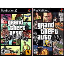 Gta Iv + Gta San Andreas Português Play 2 (kit 2 Jogos Ps2