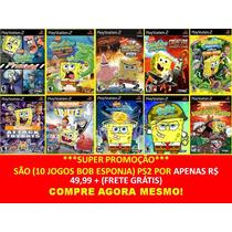 Bob Esponja Nicktoons Unite! Play 2 (kit 10 Jogos Ps2