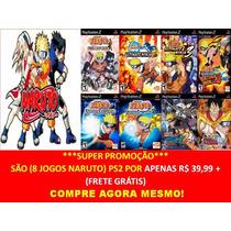 Naruto Ultimate Ninja 1, 2, 3, 4, 5 (kit 8 Jogos Play 2