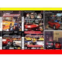 Midnight Club 1, 2, 3 Remix Ps2 (kit 4 Jogos Play Station 2