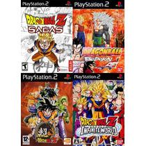 Dragon Ball Z Sagas Para Playstation 2 (kit 4 Jogos Ps2