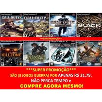 Call Of Duty World At War Play 2 (kit 8 Jogos Ps2 Guerra