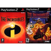 Os Incríveis 1 E 2 Ps2 (kit 2 Jogos Play 2 The Incredibles