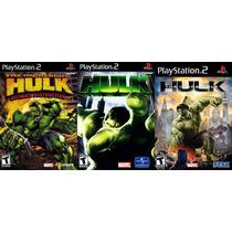 Hulk Para Playstation 2 (kit 3 Jogos Ps2 The Incredible