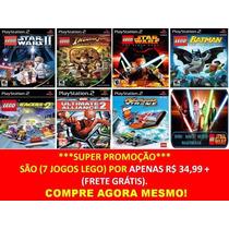 7 Patchs Lego E Marvel Para Playstation 2 (kit 7 Jogos Ps2