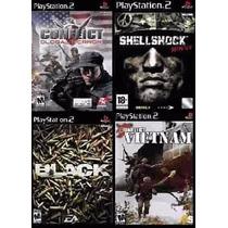 Shell Shock Nam 67 Ps2 (kit 4 Jogos Playstation 2 Guerra
