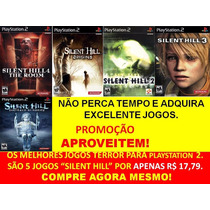 Silent Hill 2, 3 Ps2 (kit 5 Jogos) Play Station 2
