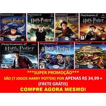 Harry Potter E A Pedra Filosofal Play 2 (kit 7 Jogos Ps2