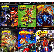 Infantil Crash Bandicoot Playstation 2 (kit 6 Jogos Ps2