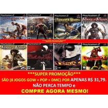 God Of War 1 E 2 Português Playstation 2 (kit 8 Jogos Ps2