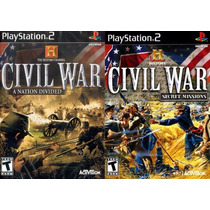 Civil War 1 E 2 Playstation 2 (kit 2 Jogos Ps2 Guerra