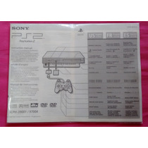 Manual Para Ps2 Fat Scph 39001 / 97004 Frete Fixo
