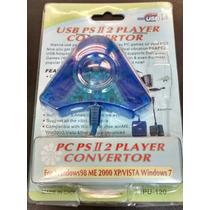 Adaptador Conversor Usb Para 2 Controles Playstation2