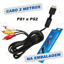 Cabo Av (rca) Áudio E Vídeo Para Playstation 2 Ps2 Ps1