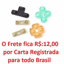 10 Kits Reparo Controle Analogico Original Borrachas Ps2