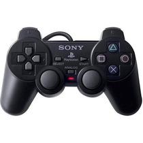 Controle De Playstation 2 Dualshock Original+1jogo De Brinde