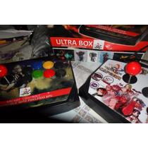 Controle Arcade Ultrabox Ps1 Ps2 Ps3 Pc 5 Em1