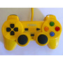Controle Dual Shock P/ Ps2 Amarelo Com Vibração