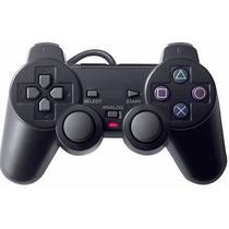 10 Controle Manete Ps2 Playstation 2 Vibração Cabo 1.80m