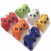 Lote 6 Controle Manete Joystick Playstation 2 C/ Turbo