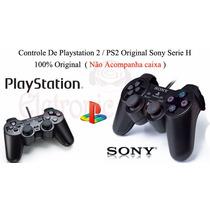 Controle De Ps2 Original Sony Série H 100% Original S/caixa