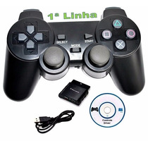 Joystick Controle Sem Fio Usb Para Pc E Ps2 Ps3 Ps1