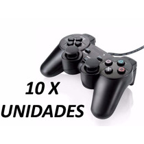 10x Controle Manete Playstation 2 - Vibratório - Cabo Longo