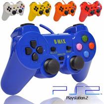 Lote 5 Controle Manete Joystick Playstation 2 Colorido