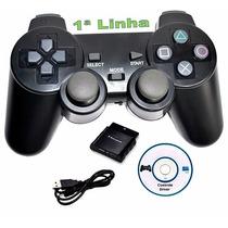 Controle Sem Fio 4 Em 1 Pra Ps3 Ps2 Ps1 Pc Joystick Wireless