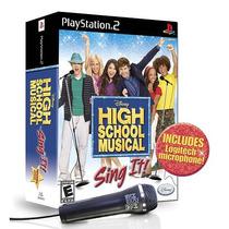 Jogo E Microfone Ps2 High School Musical Novo
