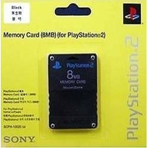 Memory Card 8mb Playstation 2 Sony Lacrado, Novo.