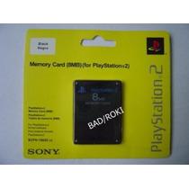 Memory Card Sony Playstation 2 C/ 8 Mb Novo Lacrado