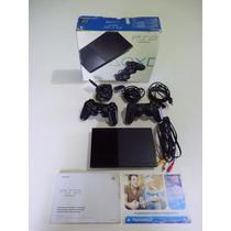 Playstation 2 Slim Desbloqueado Novinho Na Caixa