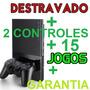 Play 2 Desbloqueado Ps2 +15 Jogos+ Memory + Garantia+frete G