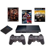 Play 2 Acompanha 2 Controles Sem Fio Sony+memory+1 Brinde.