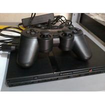 Playstation 2 Slim Ps2 Destravado Com Controle E 6 Jogos