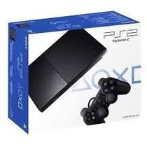 * Playstation 2 Semi-novo Slim Destravado E Com Frete Grátis