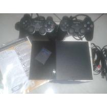 Playstation 2 Ps2 Desbloqueado+2controles+na Caixa!vejam!