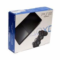 Playstation 2 Com 2 Controle +brinde- Original Desbloqueado