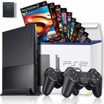 Playstation2 Ps2 Desbloqueado Original+ Controle+ 10 Jogos
