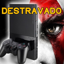 Playstation2 Destravad+ Controle+ Jogos+ Adesivo Gratis