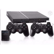 Playstation 2 Original Destravado+2 Controless+ Memorycard+b