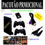 Play2 Playstation 2 Destravado+2contr.analog+memory+4 Jogos