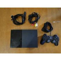 Playstation 2 Play 2 + 1 Controle, Cabos + 2 Jogos Paralelos