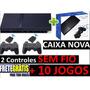Playstation 2 Semi Novo + 2 Controles Sem Fio + 10 Brindes!