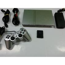 Playstation 2 Desbloqueado Prata Com Garantia