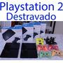 Playstation 2 Destravado Com Leitor Novo + 10 Jogos Ps2