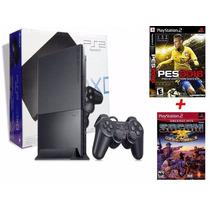 Ps2 Comprar Destravado +15 Jogos + Memory Card +2 Controles