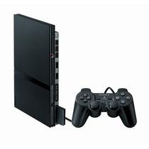 Ps2 Slim Destravado + Controle + Memory Card + 5 Jogos